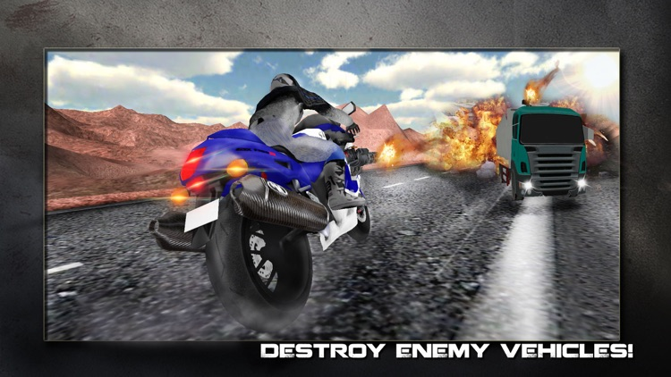 Super Motor Bike Shooter Traffic Race 3D screenshot-4