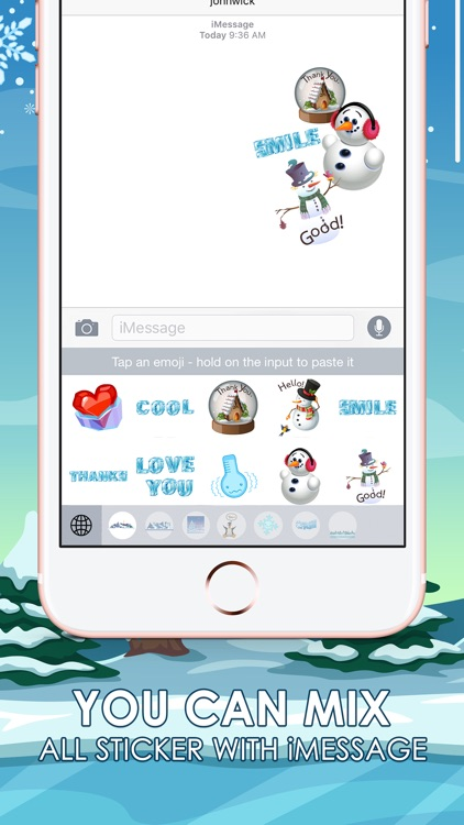 Frozen & Winter Stickers Keyboard Themes ChatStick