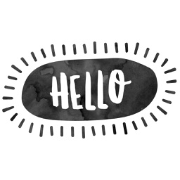 Hello Stickers for iMessage - Black & White ed.