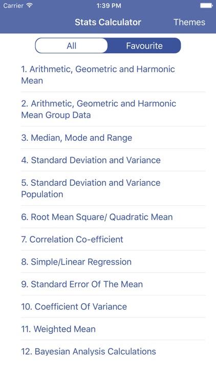 Stats Calculator - Statistics Formulas