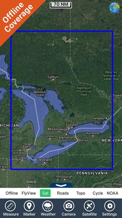 Huron Erie Ontario HD Charts screenshot-4