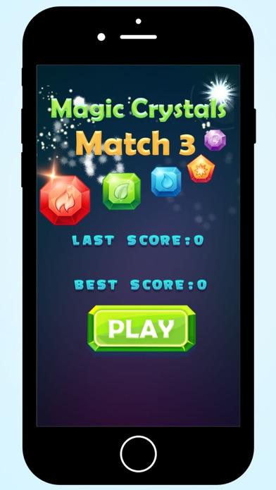 Magic Crystals match 3 screenshot one