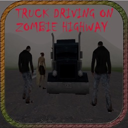 Full Throttle Truck driving on zombie highway