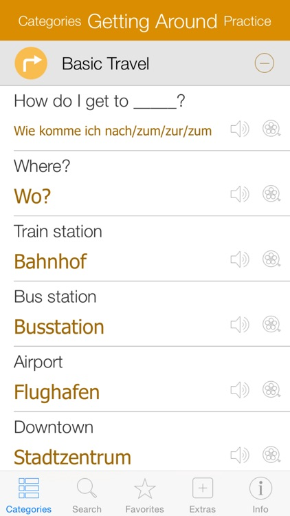 German Video Dictionary - Translate and Speak screenshot-1