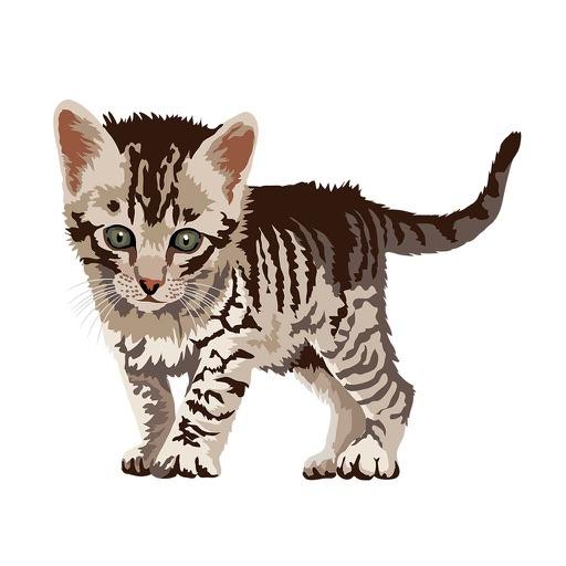 Cute Kittens - Cat Art, Stickers
