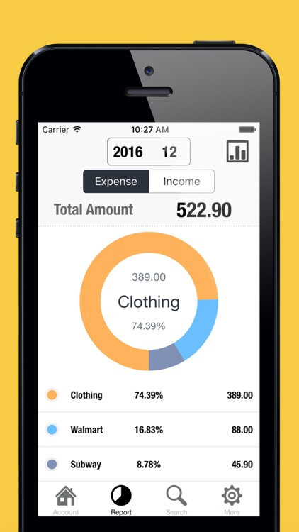 Spending Tracker-Expense, Income & Account Balance