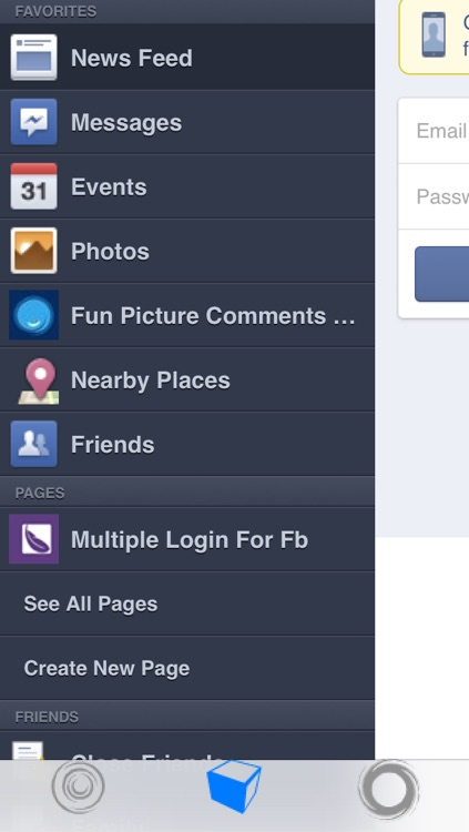 Multiple Login For Facebook Plus