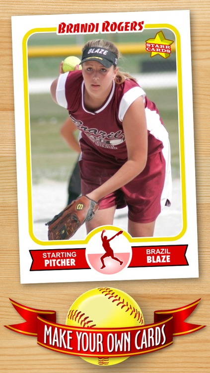 Softball Card Maker - Make Your Own Custom Softball Cards with Starr Cards