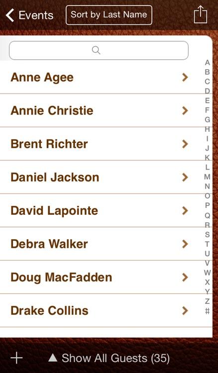 Guest List Organizer