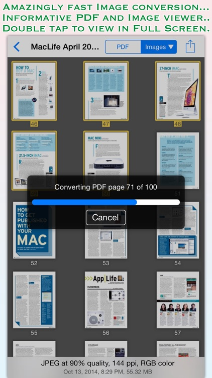 PDF to JPG for iOS
