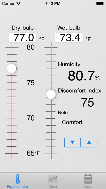 Psychrometer screenshot-0