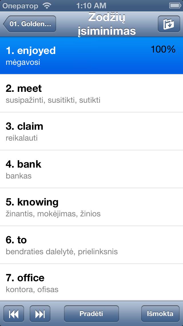 QuickTeacher Anglų kalba screenshot two