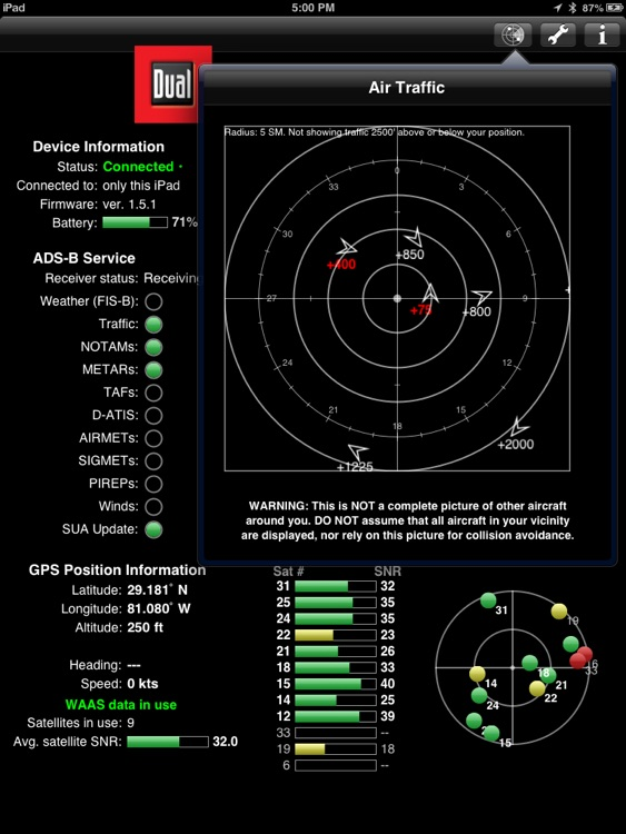 XGPS170 Status Tool