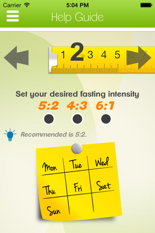 5:2 Health Diet App screenshot 2