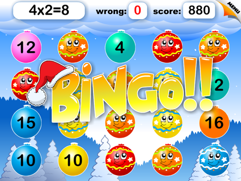 Abby Basic School Snowman Math: Challenge Educational Game for Kids by 22learn screenshot 3