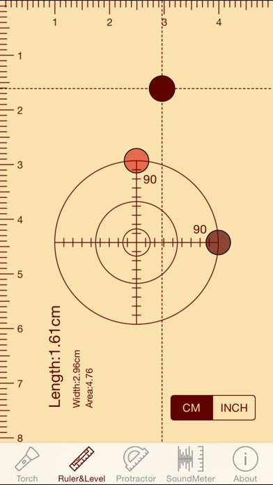 ytools-flashlight,ruler,spirit level,protractor and sound level meter Screenshot