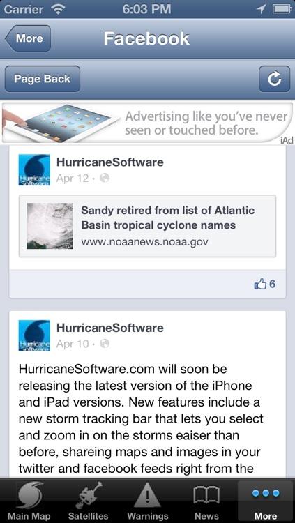 Hurricane Tracker By HurricaneSoftware.com's - iHurricane Free screenshot-4