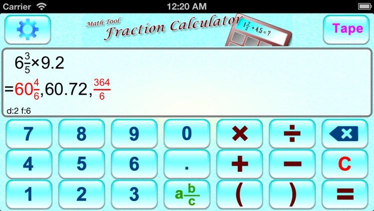 Math Tool - Fraction Calculator