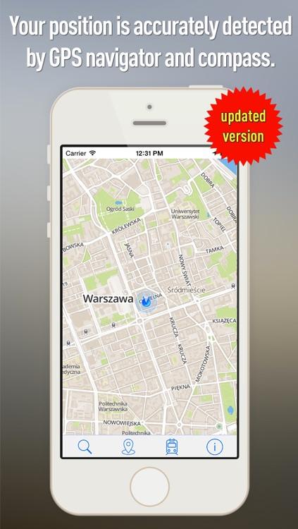 Offline Map Warsaw - Guide, Attractions and Transports