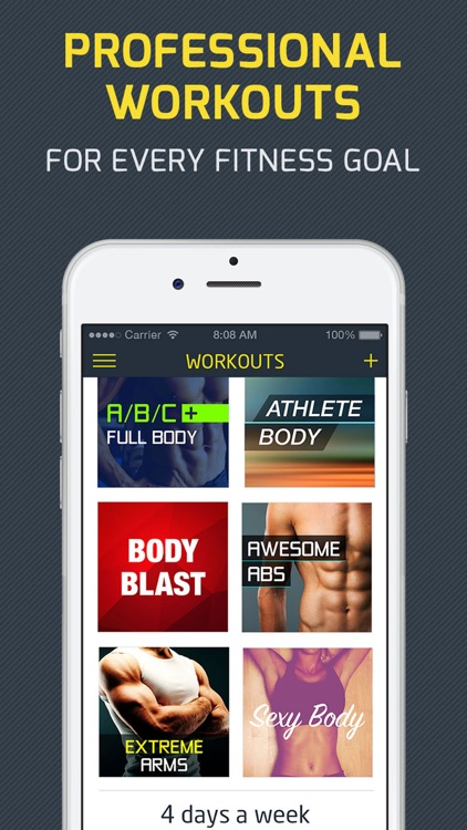 Workout: Gym personal trainer & workout tracker