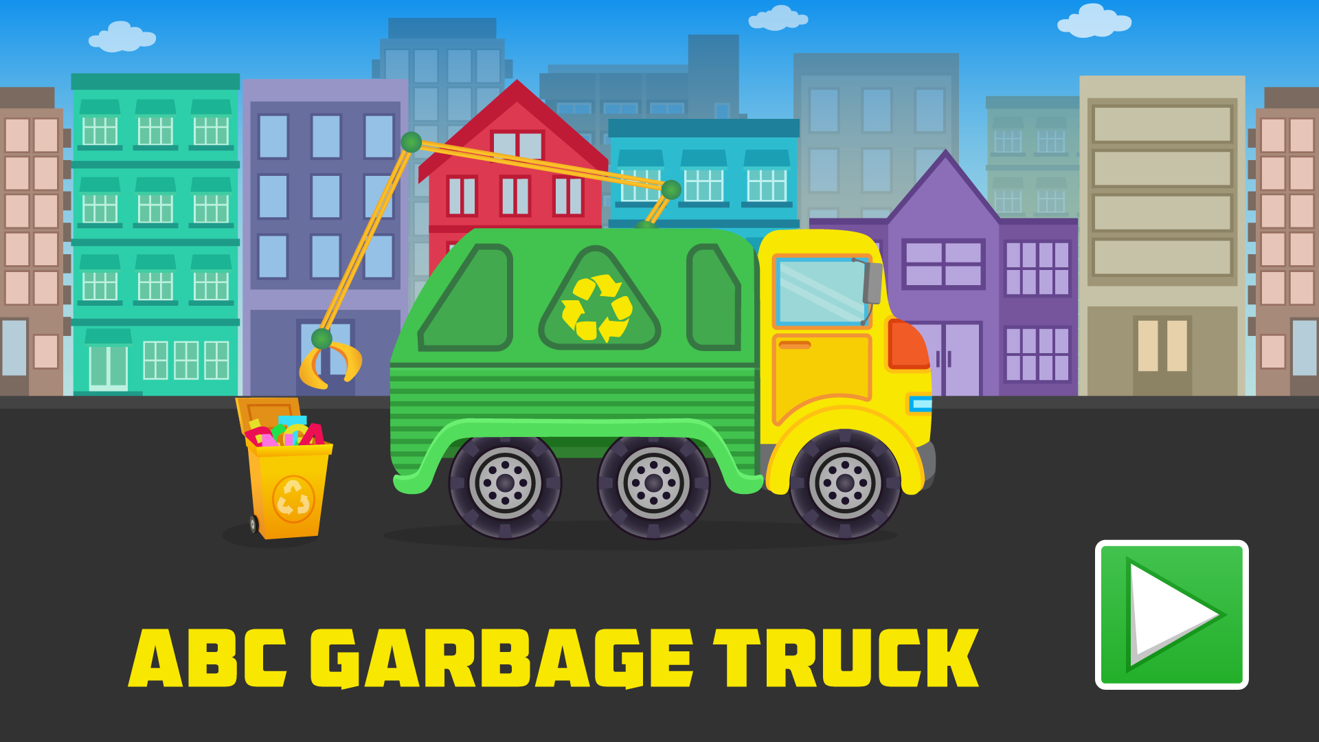 ABC Garbage Truck - Alphabet Fun Game for Preschool Toddler Kids Learning ABCs and Love Trucks and Things That Go screenshot 4