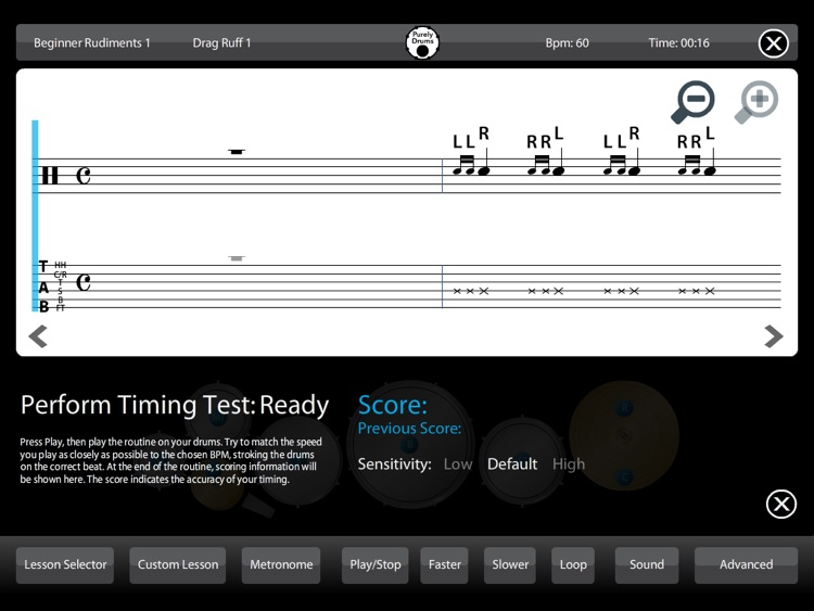 Drums - Learn Lessons & Practice Drumming Drum Skills Rhythm Training Teach Music Patterns Educational with Purely Sight Reading Metronome screenshot-3