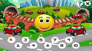 市の自動車について子供の年齢2-5のための123のゲーム: カウントを学ぶ 数字カー、レースカー、バス、トラック、飛行機、通りに1月10日。幼稚園、保育園や保育所のためにのスクリーンショット2