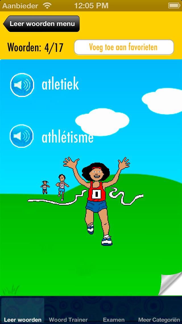 Frans Leren voor Kinderen: Kinder Trainer voor uitspraak en woordenschat - Gratis screenshot two