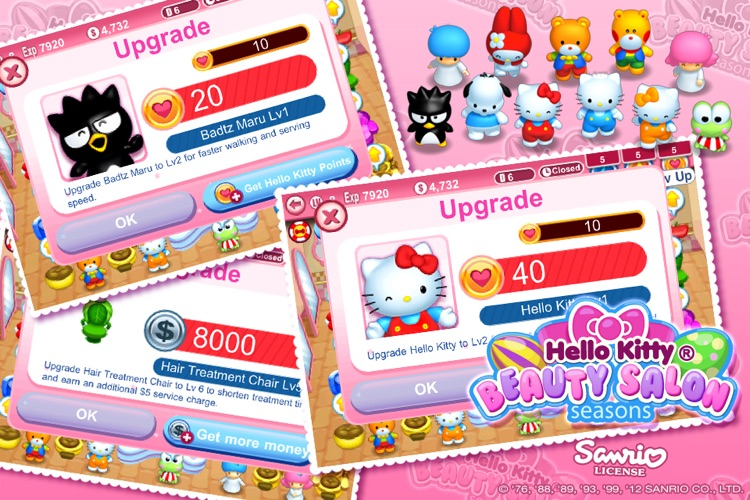 Hello Kitty Beauty Salon Seasons screenshot-4