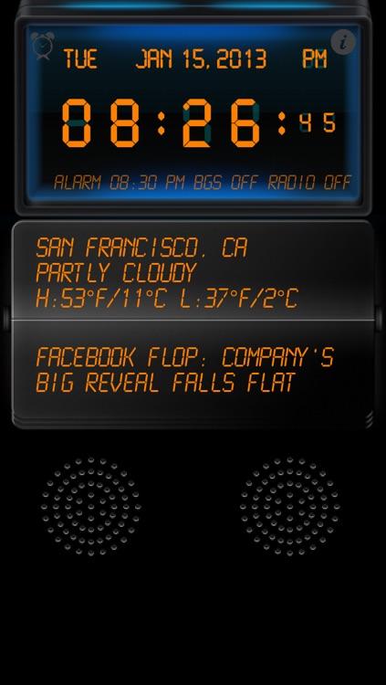 Live News Stock Weather & Clock Radio screenshot-3