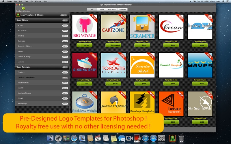 Logo Templates Toolbox For Adobe Photoshop review screenshots