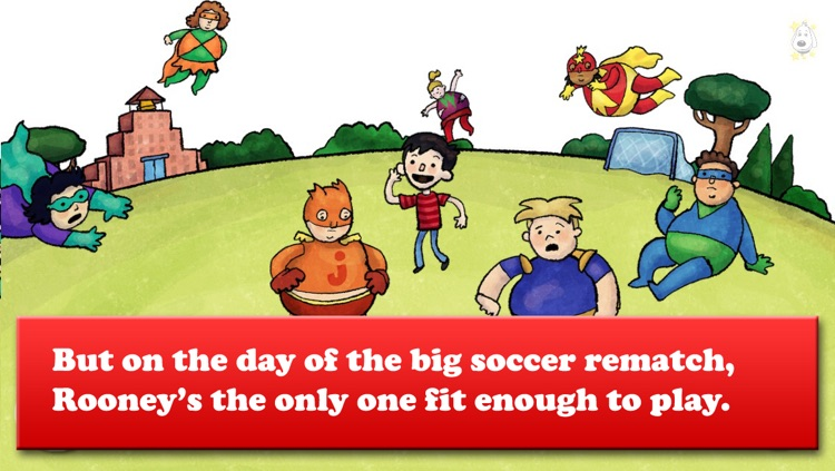 Brave Rooney and the Super-Sized Superheroes - Soccer, Healthy eating, and more - Bacciz screenshot-3