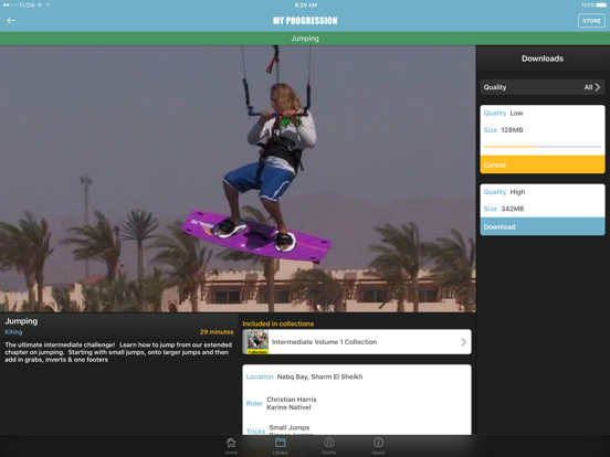 Progression Player for Kitesurfing and Kiteboarding screenshot
