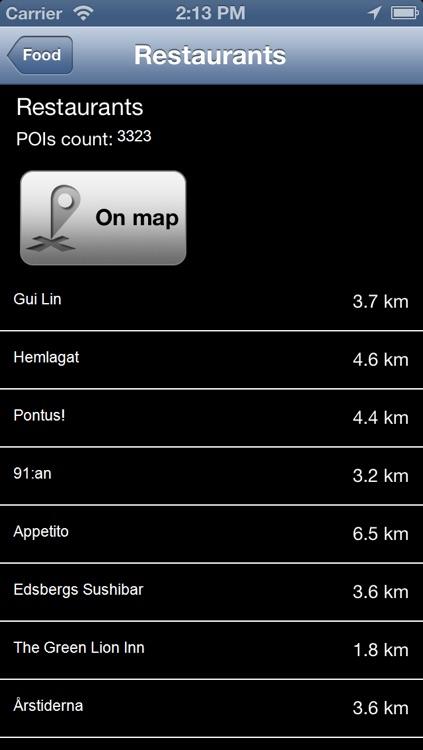 Sweden Offline Map - PLACE STARS screenshot-3