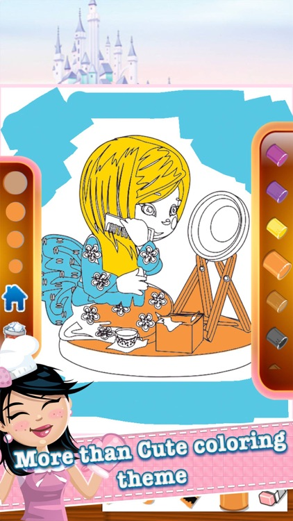 princess kids coloring book inspiration logo page screenshot-3