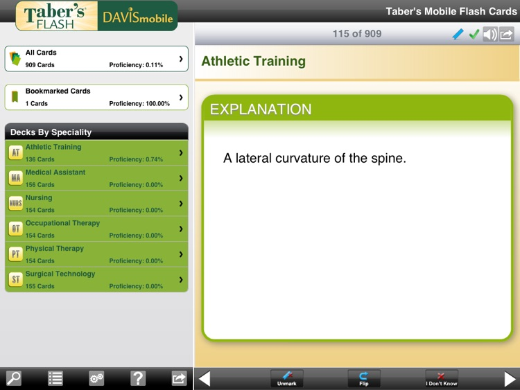 DavisMobile Taber's Flash Cards for iPad screenshot-3