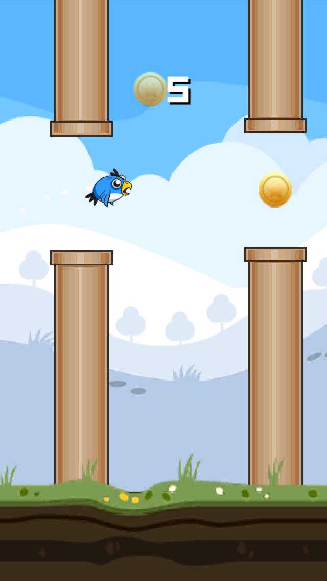 Flappy Blue Bird Original- A clumsy Bird's impossible
