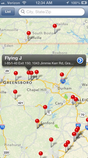 Truck Gps App >> ‎Truck Stops Finder on the App Store