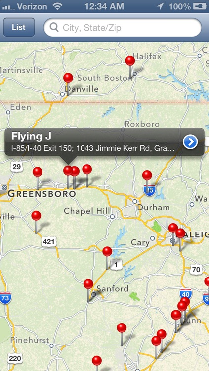 Truck Stops Finder screenshot-3