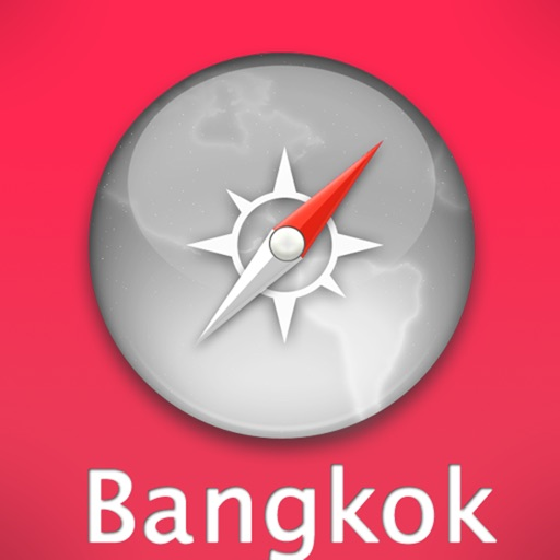 Bangkok Travel Map (Thailand)