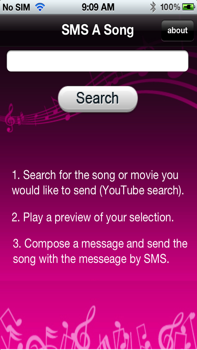 SMS A Song - IntCall Screenshot on iOS