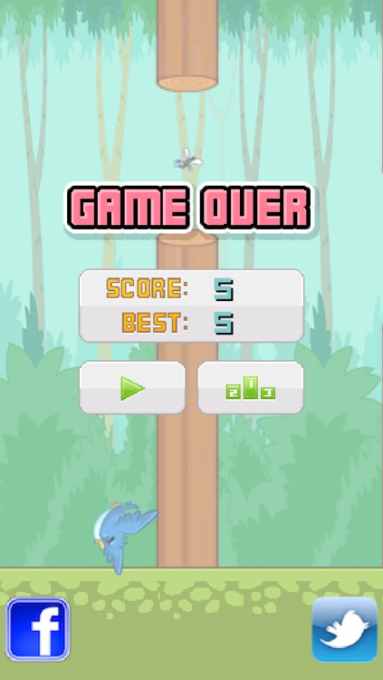 Tiny Flappy Hungry Bird - A clumsy little bird's endless search for food screenshot-4
