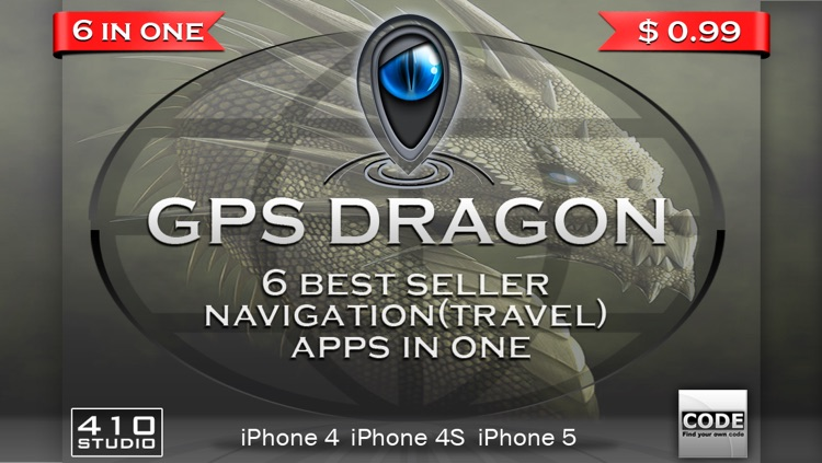 GPS Dragon 6 in 1 (1.Trip Pages, 2.Speedometer +, 3.Alarm Clock, 4.Compass, Flashlight, Speedometer, Altimeter, Course, 5.Weather Compass, 6.Compass  Pro) screenshot-4