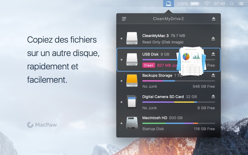 Screenshot #3 pour CleanMyDrive 2