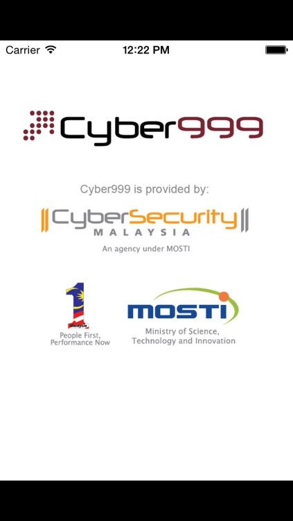 Cyber999 Mobile Application by CyberSecurity Malaysia