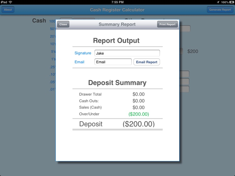 Cash Register Calculator