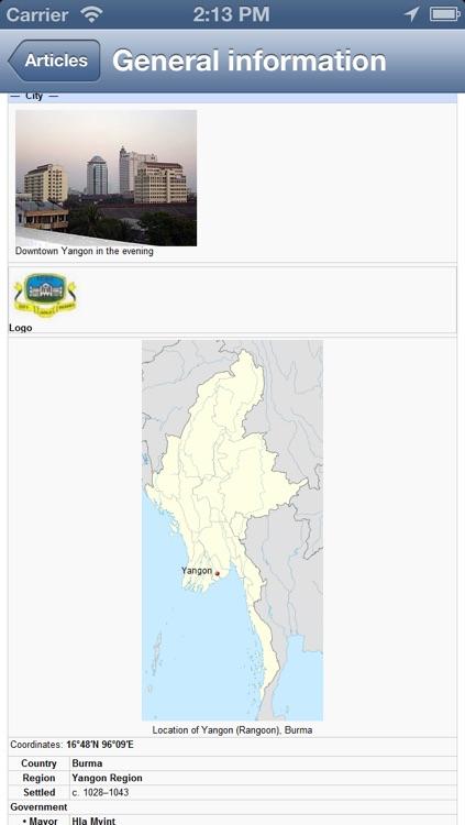 Yangon, Burma (Myanmar) Map - PLACE STARS screenshot-4