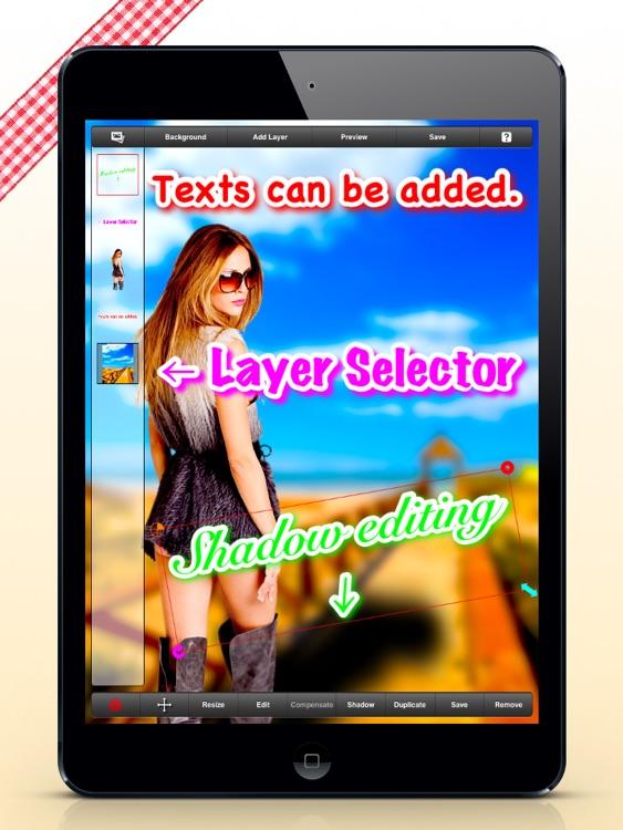 Photomontage : PhotoLayers for iPad screenshot-3