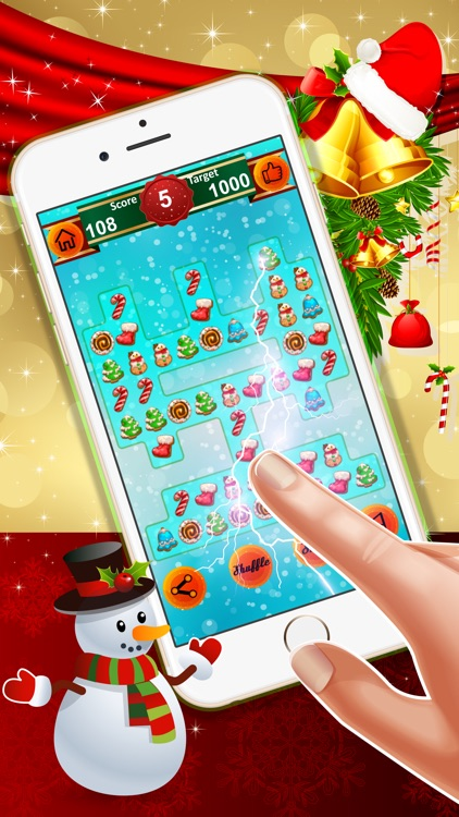 Christmas Cookies Crush : - A fun match 3 game for Xmas!