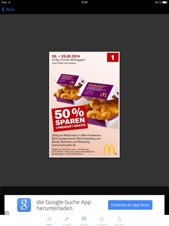 McDonalds Bonn Coupons Gutscheine
